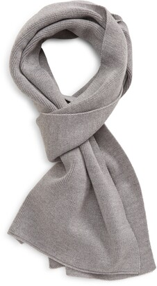 HUGO BOSS Foxon Ribbed Wool Blend Scarf
