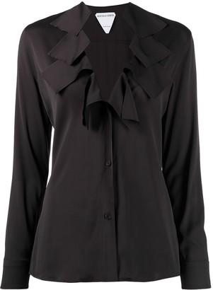 Bottega Veneta ruffled V-neck blouse