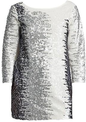 Joan Vass, Plus Size Sequined Cotton Tunic