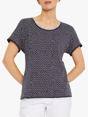 White Stuff Penelope Jersey T-Shirt, Indigo Navy Print