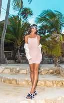 PrettyLittleThing Basic Dove Grey Strappy Bodycon Dress