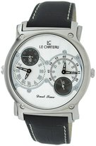 Le Château Men's SS335_SIL Viajero Collection Dual-Time Zone Watch