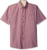 Wrangler Authentics Men's Big-Tall Short Sleeve Classic Plaid Shirt