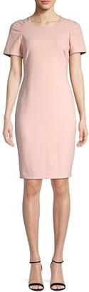 Calvin Klein Collection Short-Sleeve Sheath Dress