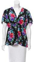 Nanette Lepore Floral Print Silk Top w/ Tags