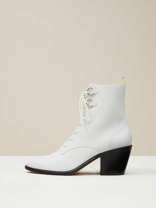 Diane von Furstenberg Dakota Leather Lace-Up Boots