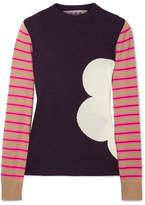 Marni Ribbed Intarsia Wool Sweater - Red