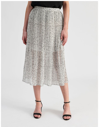 Tokito Elastic Waist Pleated Midi Skirt