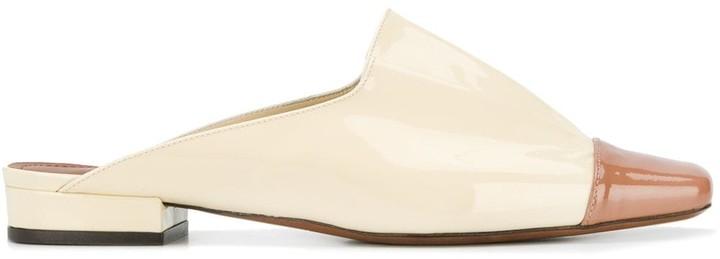 L'Autre Chose Vernice slide slippers