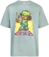 Supreme cartoon print T-shirt