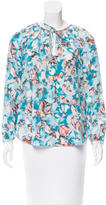 Rebecca Taylor Abstract Print Long Sleeve Top