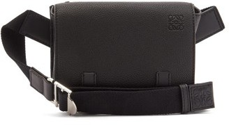 Loewe Grained-leather Belt Bag - Mens - Black