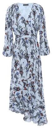 Markus Lupfer Dylan Asymmetric Floral-print Crepe Midi Wrap Dress