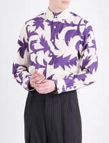 Vivienne Westwood Leaf-print classic-fit cotton shirt