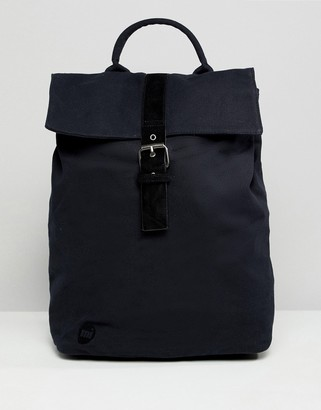 Mi-Pac Mi Pac Canvas Fold Top Backpack in Black