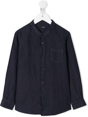 Il Gufo mandarin-collar pocket shirt