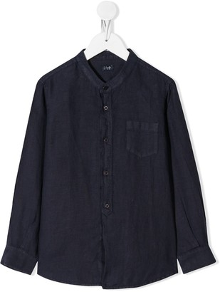Il Gufo Mandarin-Collar Pocket Shirt