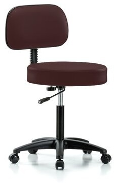 Perch Chairs & Stools Height Adjustable Exam Stool with Basic Backrest Perch Chairs & Stools Color: Burgundy Fabric