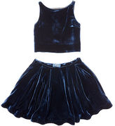 Ralph Lauren Velvet Top & Skirt Set