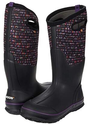 Bogs Classic Tall Twinkle (Black Multi) Women's Boots