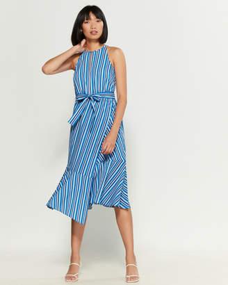 Derek Lam 10 Crosby Stripe Belted Dress