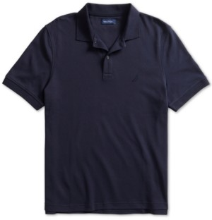 Nautica Men's Solid Cotton Interlock Polo