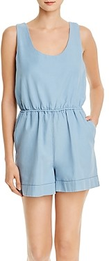 French Connection Zaina Chambray Romper