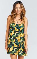 MUMU Bella Dress ~ Gone Bananas Pebble