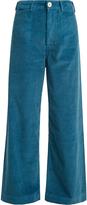 Masscob High-rise wide-leg corduroy trousers