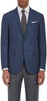 Ermenegildo Zegna Men's Checked Wool Two-Button Sportcoat-BLUE, GREY, NAVY