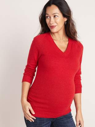 Old Navy Maternity Side-Ruched V-Neck Sweater
