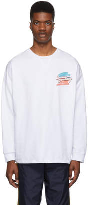 Opening Ceremony White Unisex Rugby Long Sleeve T-Shirt