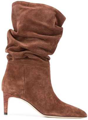 Paris Texas Ruched Pointed Boots