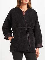 Velvet by Graham & Spencer Ofelia Reversible Faux Shearling Jacket, Black