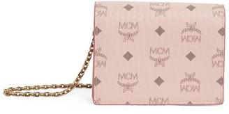 MCM Mini Visetos Three-Fold Wallet