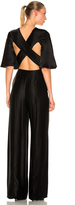 Valentino Flutter Sleeve Cross Back Jumpsuit
