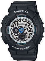 G-Shock Baby-G Leopard Series Black Resin Watch, BA120LP1A