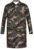 Valentino Camouflage-print twill trench coat