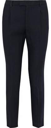 RED Valentino Pleated Wool Slim-leg Pants