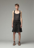 Ann Demeulemeester Men's Tank Top in Aura Black Size XS Rayon/Cashmere