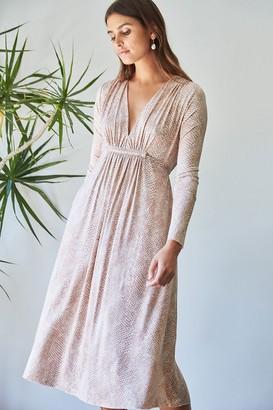Rachel Pally Long Sleeve Mid-Length Caftan Dress - Snake