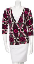Tory Burch Abstract Patterned Wool Cardgian