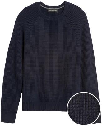 Banana Republic Cashmere Waffle-Knit Sweater