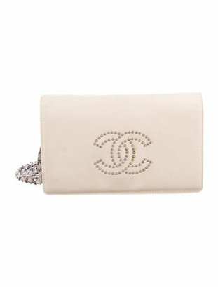 Chanel Studded Wallet On Chain silver