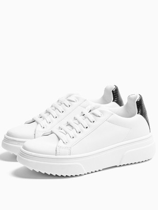 Topshop Canada Lace Up Trainers - White