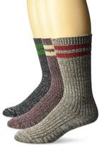 Muk Luks Men's 3 Pack Microfiber Trail Sock