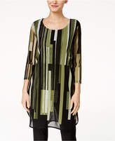 Alfani Striped Illusion Tunic, Created for Macy's