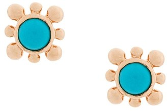 Astley Clarke Turquoise Mini Floris Studs