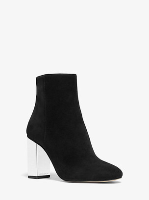 Michael Kors Petra Embellished Suede Ankle Boot