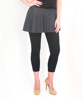 Magid Dark Gray Circle Skirt Leggings - Plus Too
